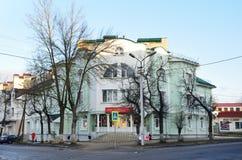 Pskov Ryssland, December, 31, 2017 Hus 33 på gatan av Gogol i Pskov arkivfoto