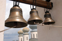 A Pskov's bell tower Stock Photos