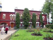 Pskov scava il monastero Fotografie Stock