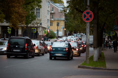 Pskov-Stadtstraßen Lizenzfreies Stockfoto