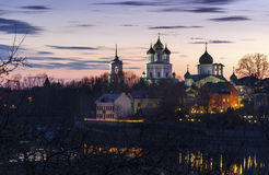 Pskov Trinity cathedral. Stock Images