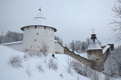 Pskovo-Pechersky Monastery near Pskov, Russia. Stock Image