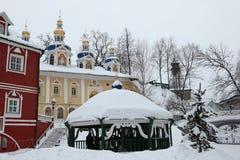Pskovo-Pechersky Monastery near Pskov, Russia. Stock Photos