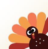 Pássaro bonito de Turquia dos desenhos animados Fotos de Stock
