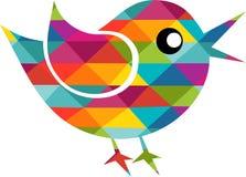 Pássaro colorido e abstrato Imagens de Stock Royalty Free