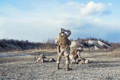 Pássaro de espera do helicóptero sanitário do exército Imagem de Stock