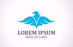 Pássaro subindo do logotipo Imagens de Stock