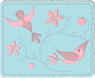 Pássaros acolchoados Foto de Stock