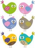 Pássaros coloridos Fotografia de Stock Royalty Free