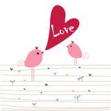 Pássaros do amor Imagem de Stock Royalty Free