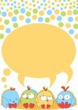 Pássaros pequenos do pintainho com discurso da bolha Foto de Stock Royalty Free