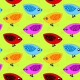 Pássaros que comem o fundo sem emenda do milho Fotos de Stock Royalty Free