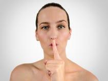 Psss silencieux Image libre de droits