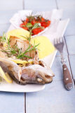Pstrąg piec na grillu ryba Fotografia Royalty Free