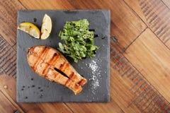 Pstrągowy rybi stek Obrazy Royalty Free