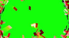Pstrobarwna mozaika gromadzić, zielenieje, ekran ilustracji