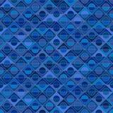 Pstrobarwny bezszwowy wzór, błękitny tło, wektorowy szablon Ilustracja Wektor