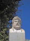 Psuje statuę Grecki badacz Euthymenes Massalia Marseille fotografia stock