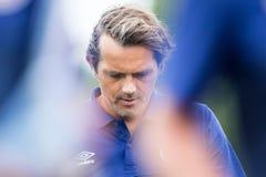 PSV菲利普Cocu教练员  免版税库存图片