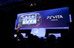 PSVita en Gamescom 2011 Foto de archivo libre de regalías