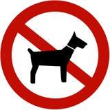 psy nie pozwolić Zdjęcia Stock