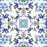 Psychédélique peint à la main de kaléidoscope de batik Images libres de droits