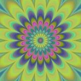 Psychadelic abstrakcjonistyczny ilustracyjny tło Obraz Royalty Free