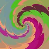 Psychadelic abstrakcjonistyczny ilustracyjny tło Zdjęcie Royalty Free