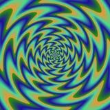 Psychadelic abstrakcjonistyczny ilustracyjny tło Obrazy Stock