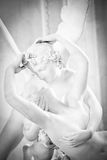 Psyche revived by Cupid kiss. Antonio Canova's statue Psyche Revived by Cupid's Kiss, first commissioned in 1787, exemplifies the Neoclassical devotion to love Stock Photography