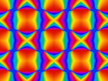 Psychedelic άνευ ραφής κεραμίδι ουράνιων τόξων Στοκ Εικόνες