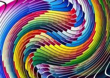 Psychedelic διάγραμμα χρώματος κυμάτων διανυσματική απεικόνιση
