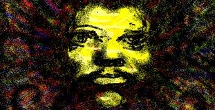 Psychedelic πορτρέτο ατόμων Στοκ φωτογραφία με δικαίωμα ελεύθερης χρήσης