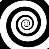 Psychedelic σπείρα με τις ακτινωτές ακτίνες διανυσματική απεικόνιση