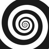 Psychedelic σπείρα με τις ακτινωτές ακτίνες, twirl ελεύθερη απεικόνιση δικαιώματος