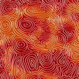 Psychedelic στροβιλιμένος κύματα απεικόνιση αποθεμάτων