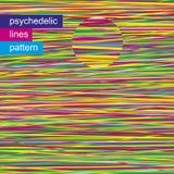 Psychedelic σχέδιο 02 γραμμών Στοκ Εικόνα
