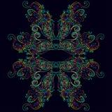 Psychedelic φωτεινό ζωηρόχρωμο πολύχρωμο φανταστικό υπόβαθρο Διανυσματική απεικόνιση