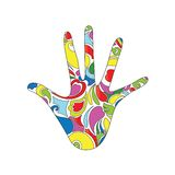 Psychedelic χέρι Στοκ Εικόνα
