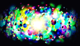 Psychedelic abstract background. Amazing illustration of colors with glow lights. Best for posters, wallpapers, music festivals and other Royalty Free Stock Photos