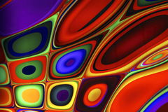 Psychedelic Abstract Background II. A photograph of a backlit pyschedllic wall royalty free stock images