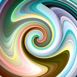 Psychedelic abstract background with lines. Raster illustration Stock Images