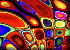 Psychedelic Abstract Background. A photograph of a backlit psychedelic wall Stock Photos