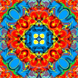 Psychedelic abstract bright geometric background  Royalty Free Stock Photography