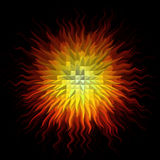 Psychedelic abstract burst background Stock Photo