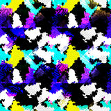 Psychedelic abstract color seamless geometric background vector illustration. (vector eps 10 Stock Images