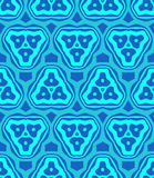 Psychedelic abstract colorful blue cyan seamless pattern Stock Image