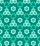 Psychedelic abstract colorful green cyan seamless pattern Royalty Free Stock Photo