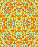 Psychedelic abstract colorful orange yellow cyan seamless patter Stock Images