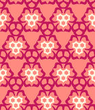 Psychedelic abstract colorful red cream pink  seamless pattern Royalty Free Stock Images